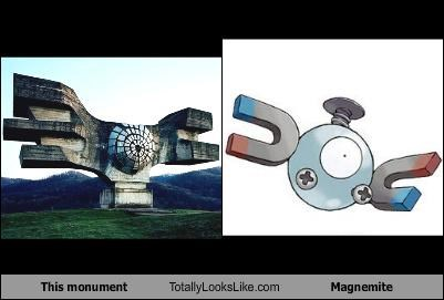 funny Hall of Fame magnemite monument Pokémon TLL