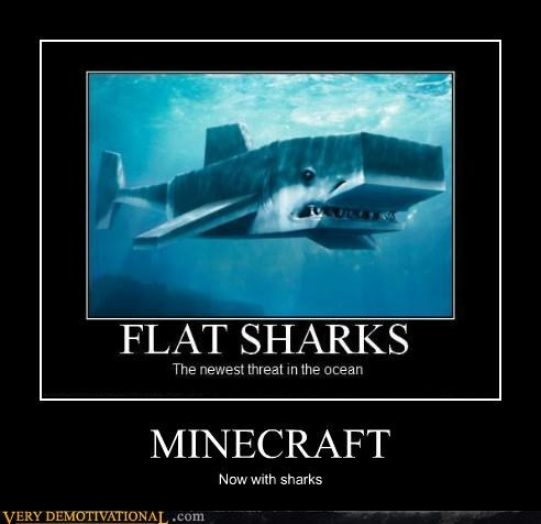 minecraft Pure Awesome sharks video games - 5032540160