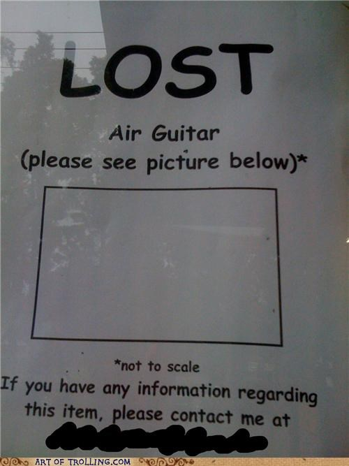 air guitar awesome IRL lost sign - 5032765184