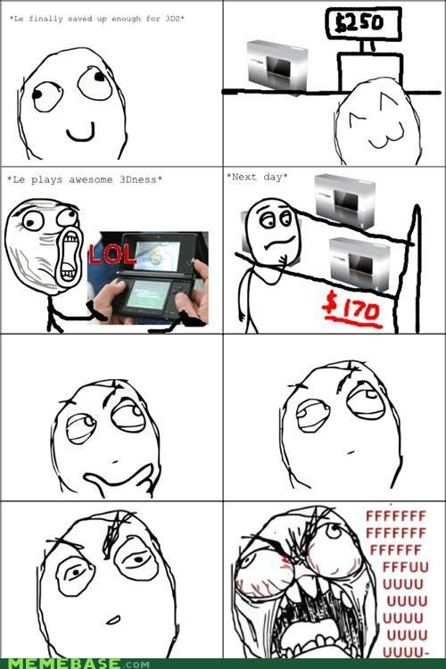 3DS,fu guy,price,price drop,Rage Comics
