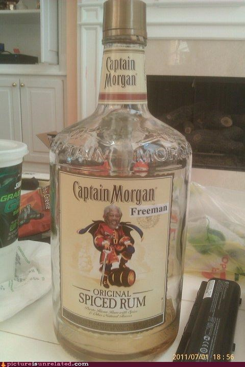 best of week,booze,captain morgan,Morgan Freeman,Rum,wtf