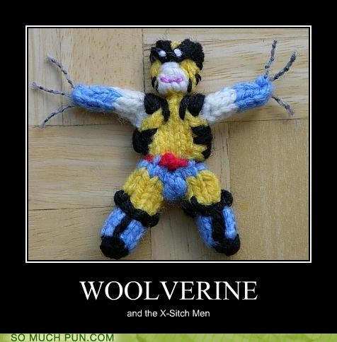 homophone knitting literalism prefix wolverine wool x men - 5034453248