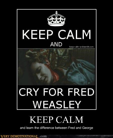 fred George Harry Potter keep calm Sad weasley