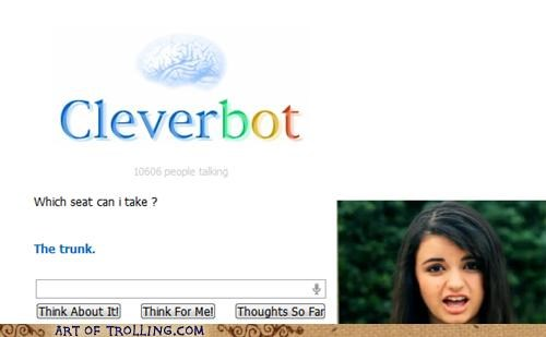 car,Cleverbot,Rebecca Black,seat,trunk