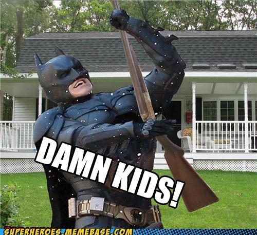 batman kids lawn old man shotgun Super-Lols - 5035164928