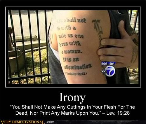 Hall of Fame hilarious irony Leviticus tattoo wrong