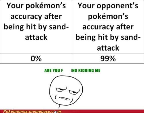 accuracy,are you kidding me,rage comic,Rage Comics,sand attack