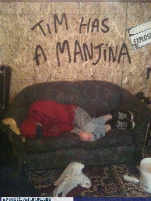 graffiti,mangina,passed out,tim