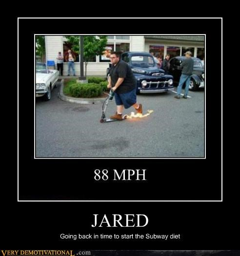 88mph,back to the future,diet,hilarious,Jared,Subway