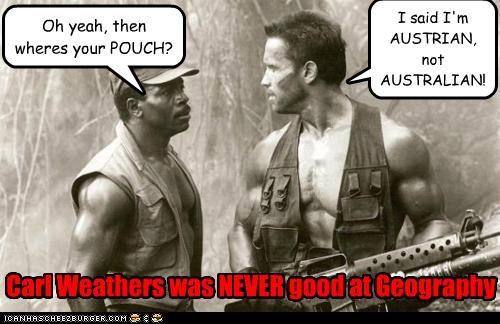 actor Arnold Schwarzenegger Carl Weathers celeb funny Movie Predator - 5036524288