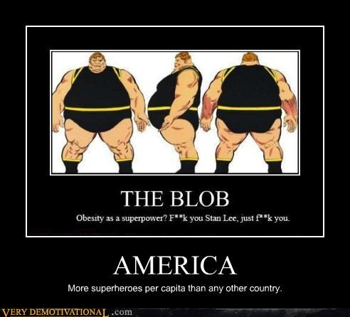 AMERICA More superheroes per capita than any other country.