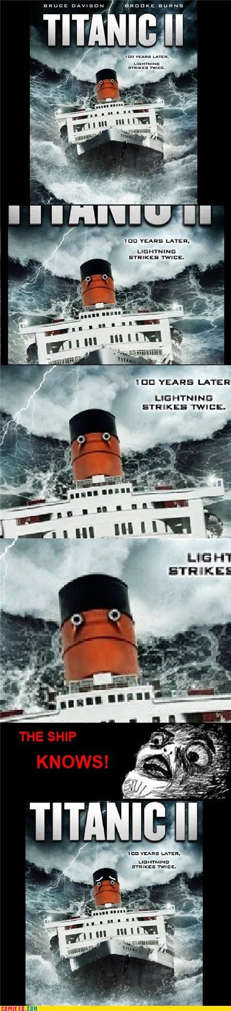 From the Movies ship sink suicide titanic Titanic II - 5036978176
