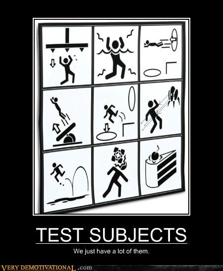 aperture science hilarious test subjects wtf - 5037603072