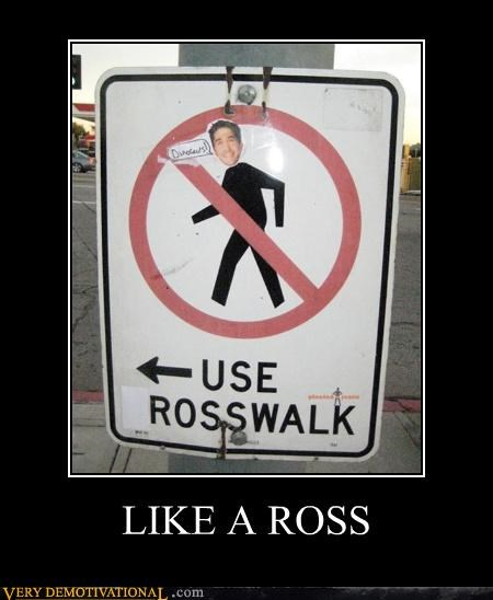 crosswalk,friends,hilarious,like a ross,ross