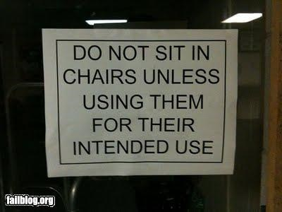 Oddly Specific: Their Intended Use Is To Be Sat Upon