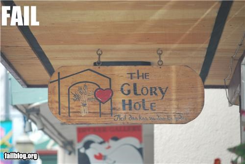 failboat,glory hole,innuendo,signs,store name