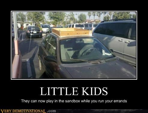 bad idea,car,hilarious,little kids,sandbox
