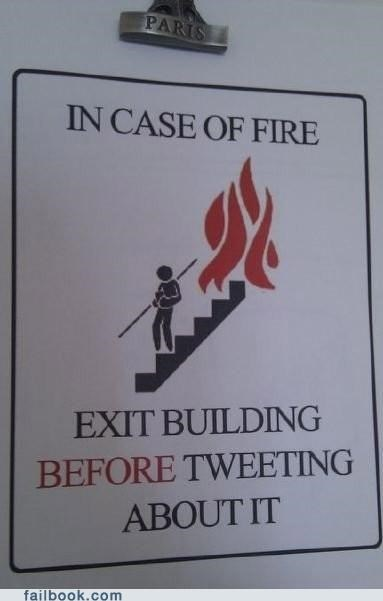 exit,fire,lol,twitter,warning