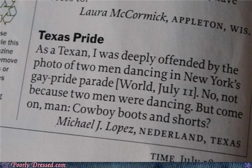 cowboy boots,gay pride parade,Hall of Fame,shorts,time magazine