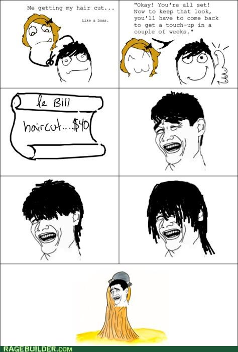 bill expensive haircut Rage Comics wtf