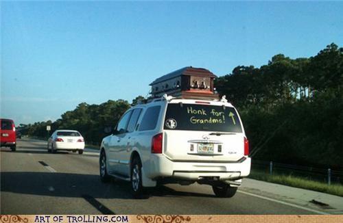 coffin grandma honk IRL wtf - 5038669824