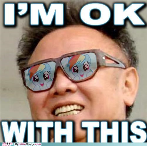 glasses Kim Jong-Il ok with this ponies rainbow dash - 5038670336