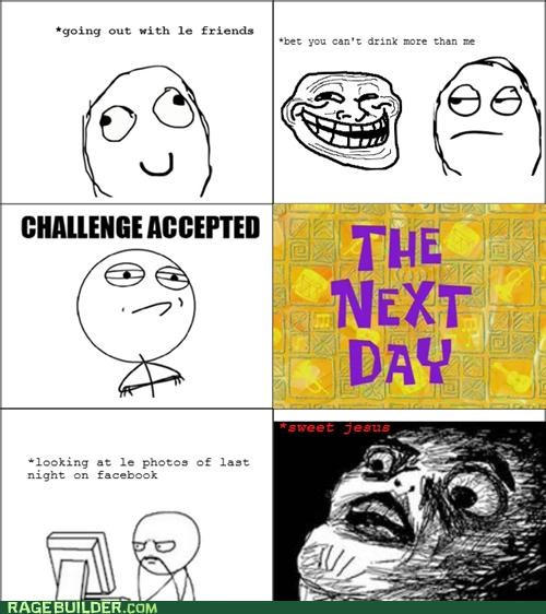 Challenge Accepted drinking photos Rage Comics sweet jesus - 5038785792