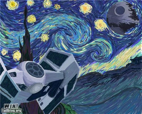 art,hacked IRArt,star wars,van-goghs-starry-night