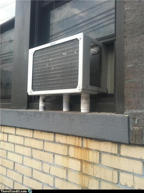 air conditioner dual use holding it up