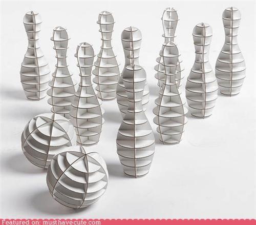 balls bowling cardboard pins set white - 5039077632