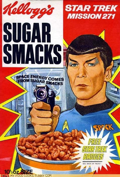 cereal space energy Spock Star Trek sugar smacks