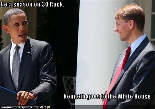 30 rock barack obama kenneth parcel look alikes president Pundit Kitchen TV - 5039166208