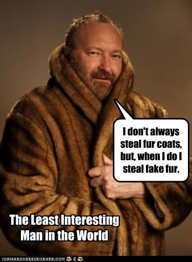 actors boring fake fur fur coats Memes Randy Quaid roflrazzi the most interesting man in the world - 5039179008