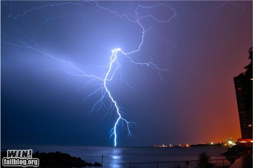 by-odins-beard,lake,lightning,mother nature ftw,strike