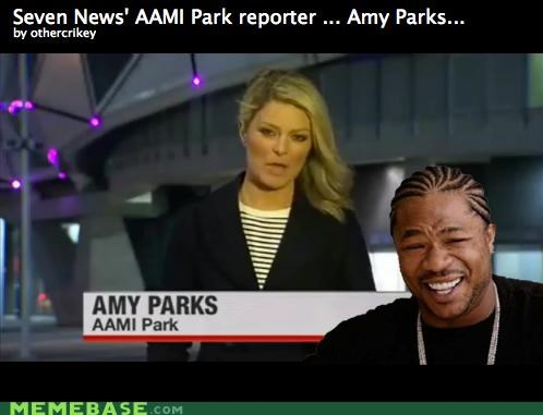 AAMI Park Amy Parks IRL news reporter yo dawg - 5039257088