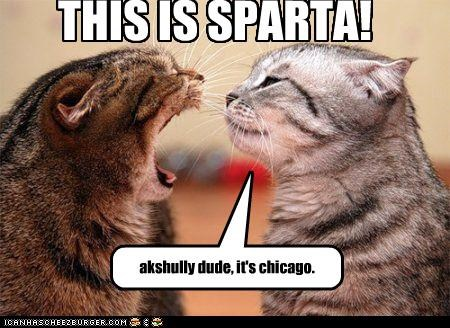 THIS IS SPARTA! akshully dude, it's chicago.
