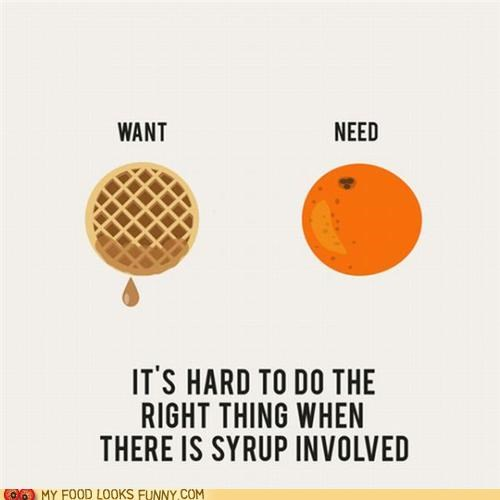 graphic orange syrup waffles willpower