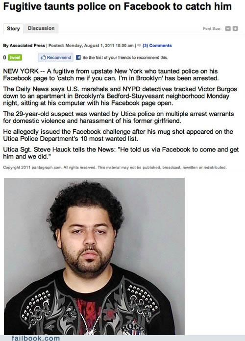 brooklyn busted catch me if you can facepalm news police stupid - 5039370496