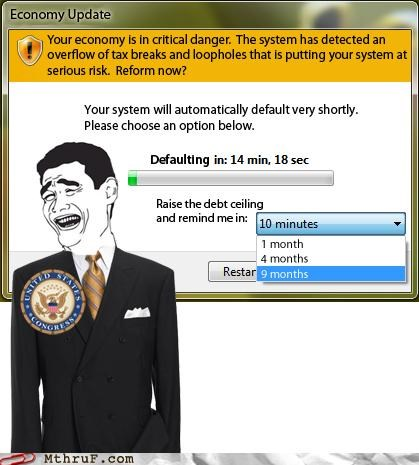 current events debt ceiling economy error message Hall of Fame politics