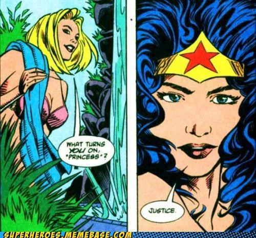 justice,sexy lady,Straight off the Page,wonder woman