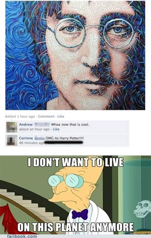 Harry Potter,john lennon,omg,prof-farnsworth