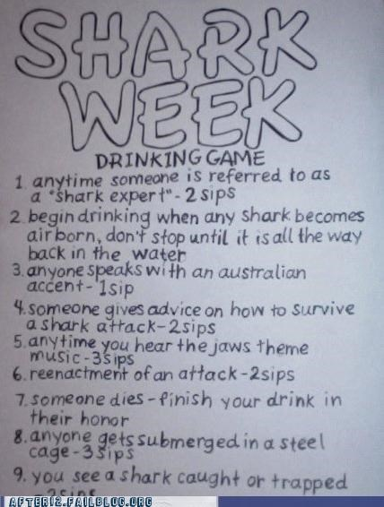 drinking game,rules,shark week