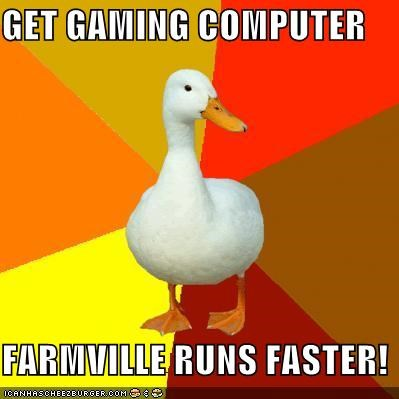 computer,Farmville,ram,sheep,Technologically Impaired Duck,video games