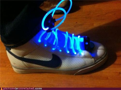 futuristic glow sticks shoes wtf