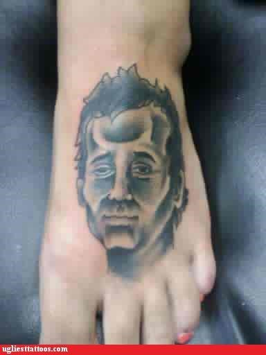 celeb foot tats pop culture portraits - 5040157440