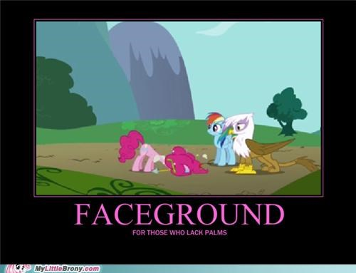 face palm,ground,head,pinkie pie,poster