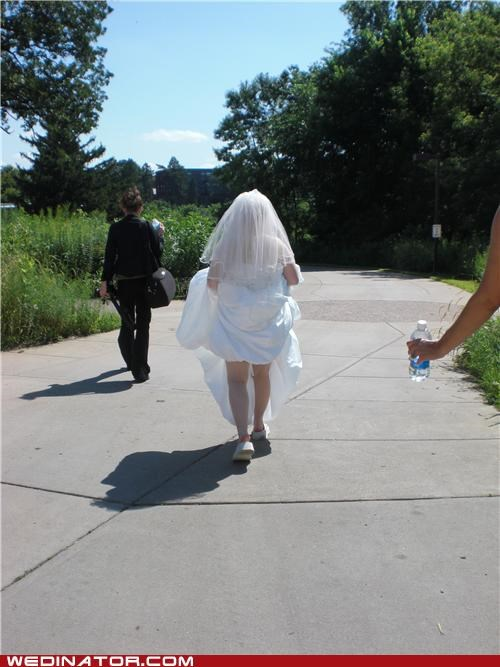 bride,funny wedding photos,Heat,sun