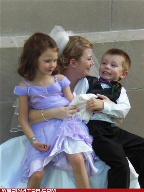 bride,children,cooties,flower girl,funny wedding photos,kids