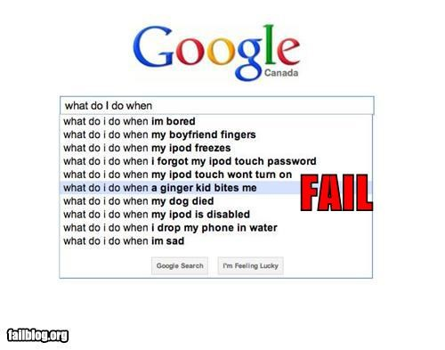 Autocomplete Me failboat ginger google g rated twilight vampires