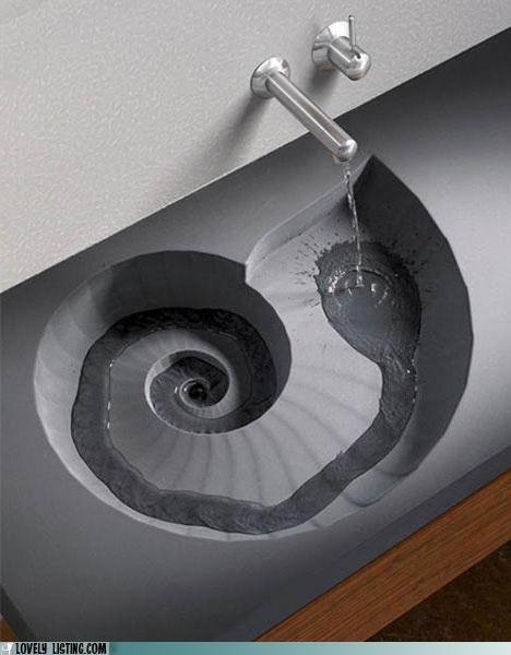 basin nautilus sink spiral swirl - 5041215744